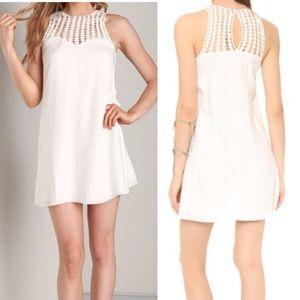 Lovers + Friends Plumeria White Crochet Dress